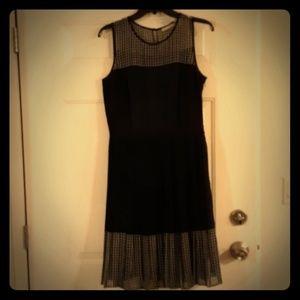 Halogen Women's Black, White and Blue Dress. Sz 10
